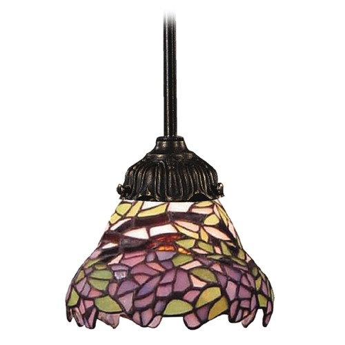 Elk Lighting Mini-Pendant Light with Multi-Color Glass 078-TB-28