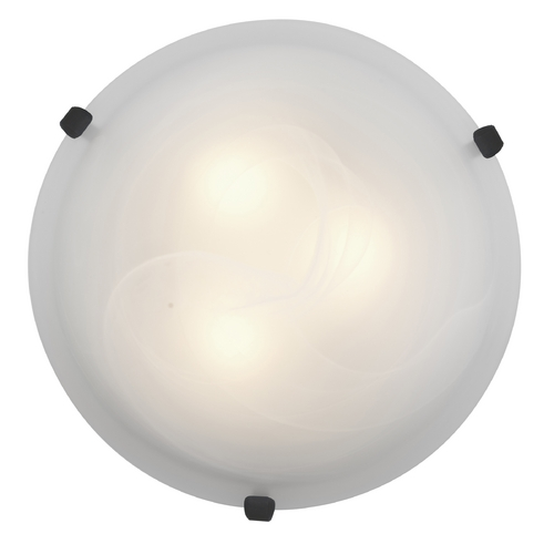 Access Lighting Modern Flushmount Light with Alabaster Glass in Rust Finish 23020-RU/ALB
