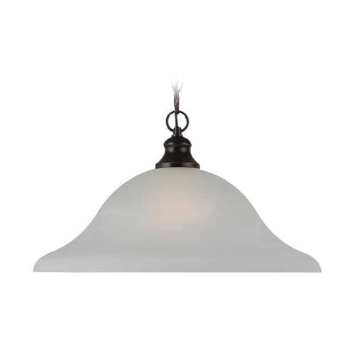 Sea Gull Lighting Pendant Light with Alabaster Glass in Heirloom Bronze Finish 65940-782