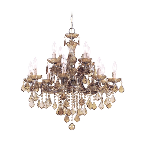 Crystorama Lighting Crystal Chandelier in Antique Brass Finish 4479-AB-GTS
