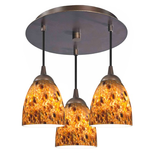 Design Classics Lighting Design Classics Gala Sfl Fuse Neuvelle Bronze Semi-Flushmount Light 579-220 GL1005MB