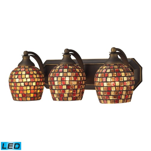 Elk Lighting Elk Lighting Bath and Spa Aged Bronze LED Bathroom Light 570-3B-MLT-LED