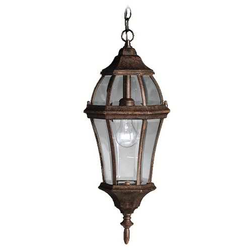 Kichler Lighting Kichler Outdoor Hanging Light with Clear Glass in Bronze Finish 9892TZ
