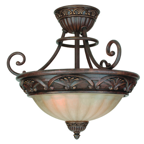 Jeremiah Lighting Jeremiah Barcelona Aged Bronze Semi-Flushmount Light X5813-AG
