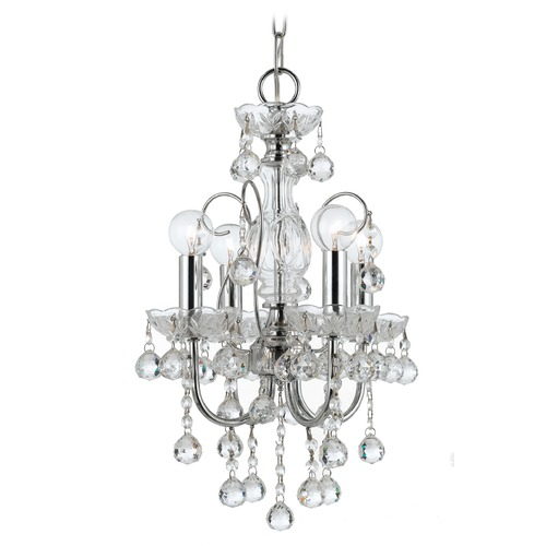Crystorama Lighting Crystorama Imperial 4-Light Crystal Chandelier in Polished Chrome 3324-CH-CL-MWP