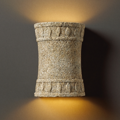 Justice Design Group Sconce Wall Light in Mocha Travertine Finish CER-7900-TRAM