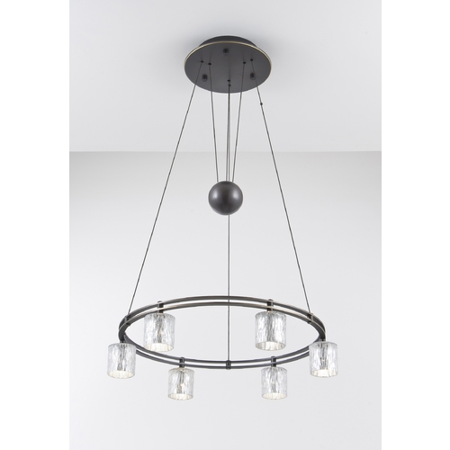 Holtkoetter Lighting Holtkoetter Modern Low Voltage Pendant Light with Silver Glass in Hand-Brushed Old Bronze Finish 5556 HBOB G5031