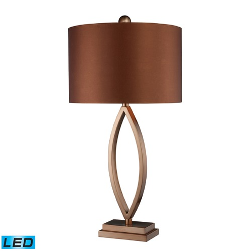 Dimond Lighting Dimond Lighting Coffee Plating LED Table Lamp with Drum Shade D1712-LED