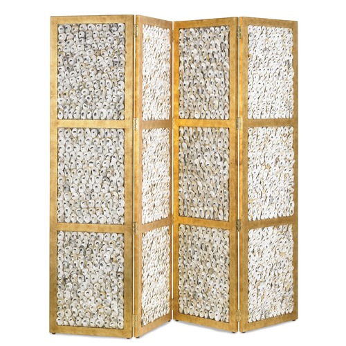 Currey and Company Lighting Currey and Company Lighting Margate Granello Gold Leaf / Natural Room Divider 3219