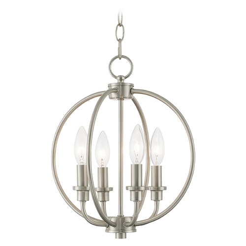 Livex Lighting Livex Lighting Milania Brushed Nickel Pendant Light 4664-91