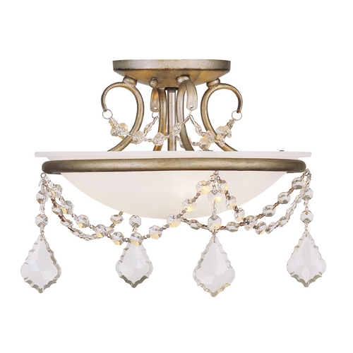 Livex Lighting Livex Lighting Chesterfield/pennington Antique Silver Leaf Semi-Flushmount Light 6523-73