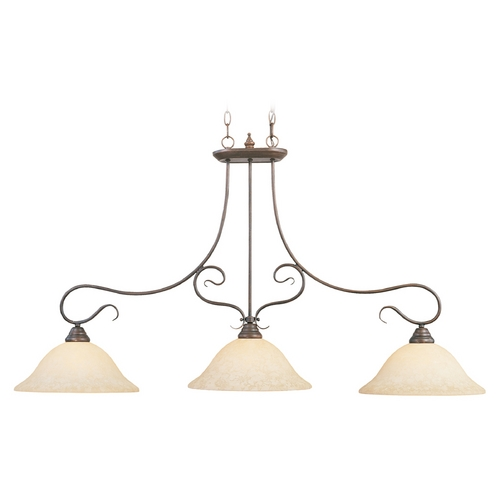 Livex Lighting Livex Lighting Coronado Imperial Bronze Island Light with Bell Shade 6108-58