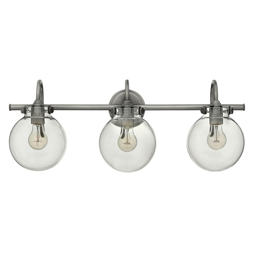 Hinkley Lighting Hinkley Lighting Congress Antique Nickel Bathroom Light 50034AN