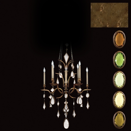 Fine Art Lamps Fine Art Lamps Encased Gems Bronze Patina Crystal Chandelier 708640-1ST
