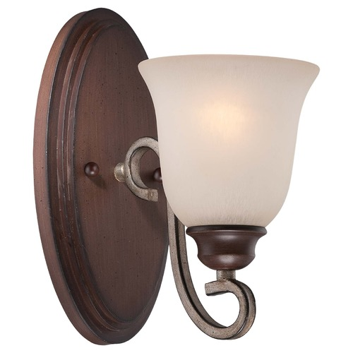 Minka Lavery Minka Gwendolyn Place Dark Rubbed Sienna with Aged Silver Sconce 5351-593