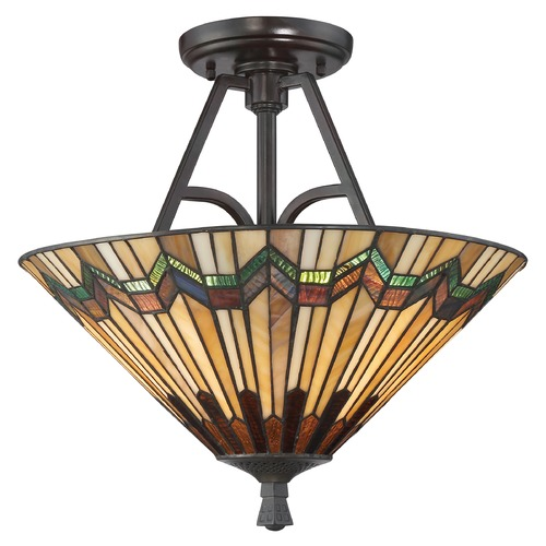 Quoizel Lighting Quoizel Lighting Alcott Valiant Bronze Semi-Flushmount Light TFAT1716VA