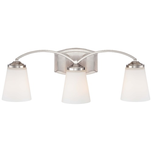 Minka Lavery Overland Park Brushed Nickel Bathroom Light 6963-84