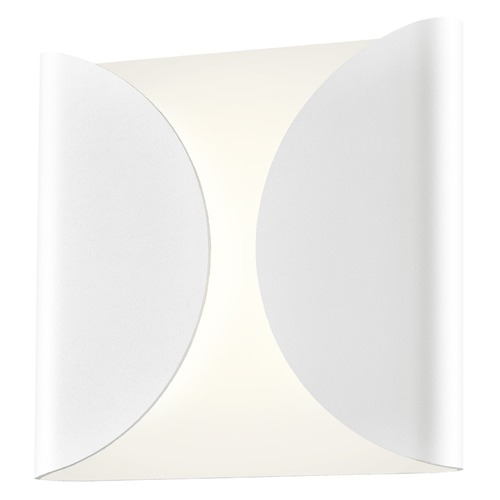 Sonneman Lighting Sonneman Folds Textured White LED Outdoor Wall Light 2710.98-WL