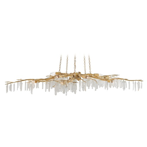 Currey and Company Lighting Currey and Company Forest Washed Lucernegold / Natural Island Light 9000-0040