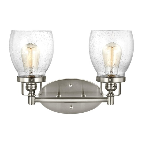 Sea Gull Lighting Seeded Glass Bathroom Light Brushed Nickel Sea Gull Lighting 4414502-962