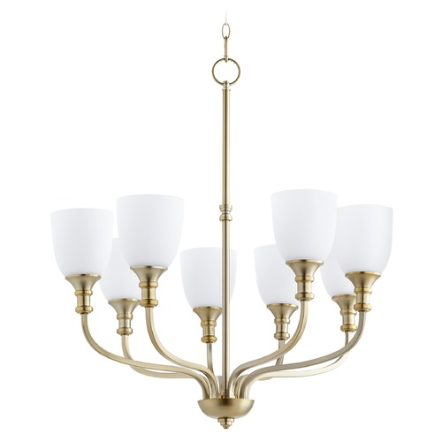 Quorum Lighting Quorum Lighting Richmond Aged Brass Chandelier 6811-8-80