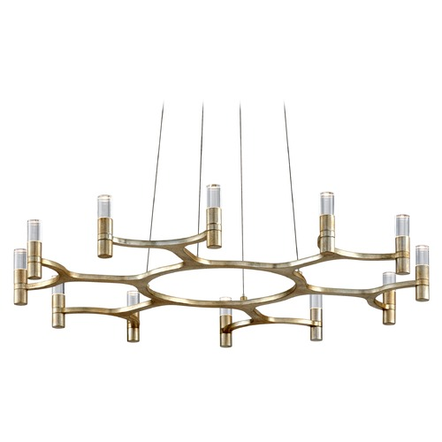 Corbett Lighting Corbett Lighting Nexus Silver Leaf LED Chandelier 258-012