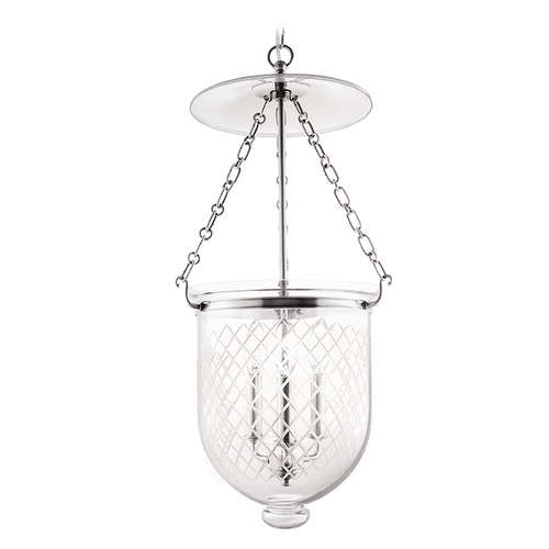Hudson Valley Lighting Pendant Light with Clear Glass in Polished Nickel Finish 254-PN-C2