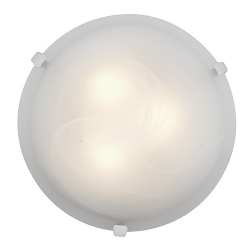 Access Lighting Modern Flushmount Light with Alabaster Glass in White Finish 23020-WH/ALB