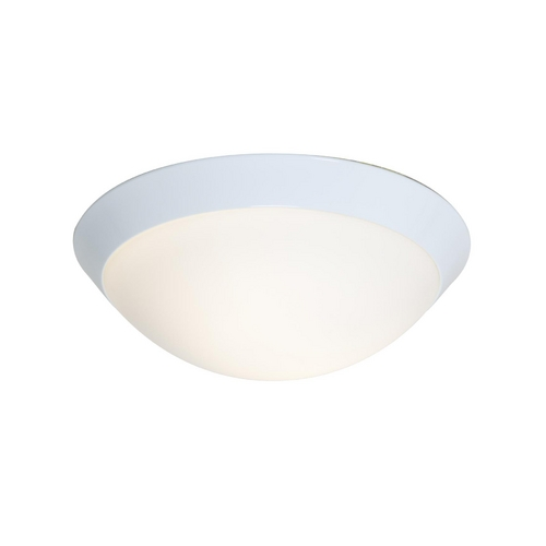 Access Lighting Modern Flushmount Light with White Glass in White Finish 20624GU-WH/OPL