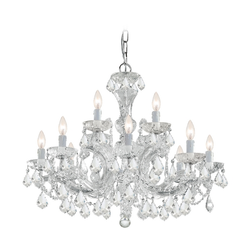 Crystorama Lighting Crystal Chandelier in Polished Chrome Finish 4479-CH-CL-SAQ