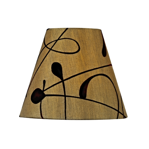 Design Classics Lighting Brown Conical Lamp Shade with Clip-On Assembly SH9559