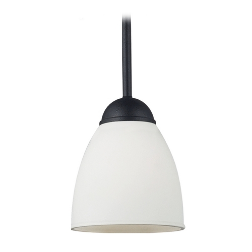 Sea Gull Lighting Mini-Pendant Light with White Glass 61270-839