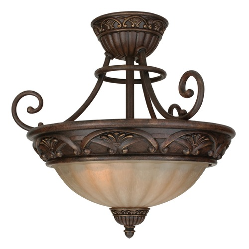 Jeremiah Lighting Jeremiah Barcelona Aged Bronze Semi-Flushmount Light X5816-AG