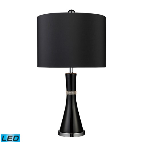 Dimond Lighting Dimond Lighting Gloss Black LED Table Lamp with Drum Shade D1713-LED