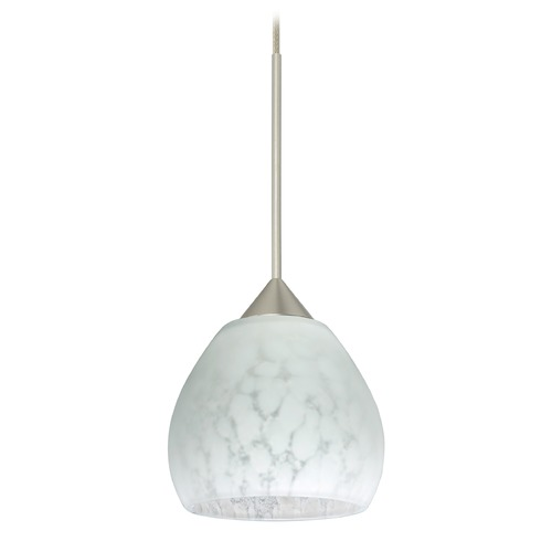 Besa Lighting Besa Lighting Tay Satin Nickel Mini-Pendant Light with Bell Shade 1XT-560519-SN