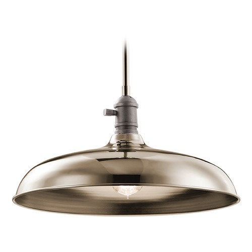 Kichler Lighting Kichler Lighting Cobson Pendant Light with Bowl / Dome Shade 42585PN