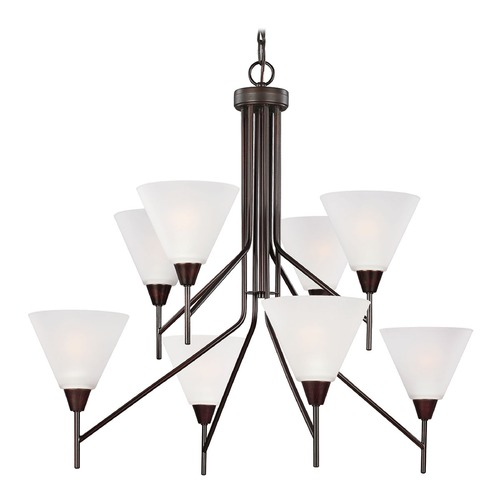 Sea Gull Lighting Sea Gull Lighting Ashburne Burnt Sienna Chandelier 3111208-710