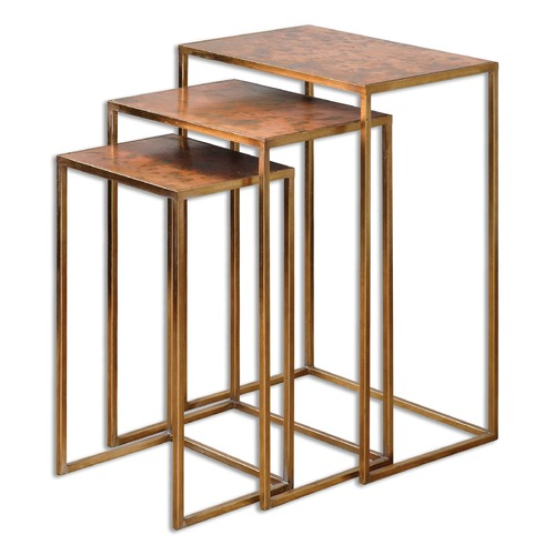 Uttermost Lighting Uttermost Copres Oxidized Nesting Tables Set/3 24449