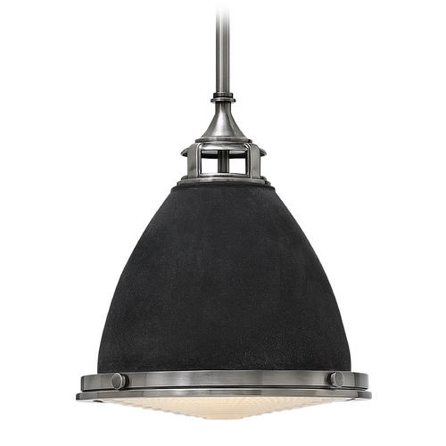 Hinkley Lighting Hinkley Lighting Amelia Aged Zinc LED Mini-Pendant Light with Bowl / Dome Shade 3126DZ-LED