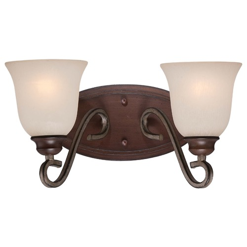 Minka Lavery Minka Gwendolyn Place Dark Rubbed Sienna with Aged Silver Bathroom Light 5352-593