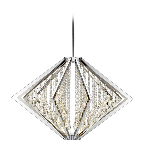 Golden Lighting Golden Lighting Bezel Chrome LED Pendant Light C351-L-CH