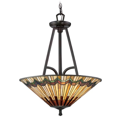 Quoizel Lighting Quoizel Lighting Alcott Valiant Bronze Pendant Light with Conical Shade TFAT2821VA