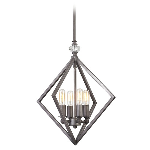 Elk Lighting Elk Lighting Milo Weathered Zinc Pendant Light 32131/4