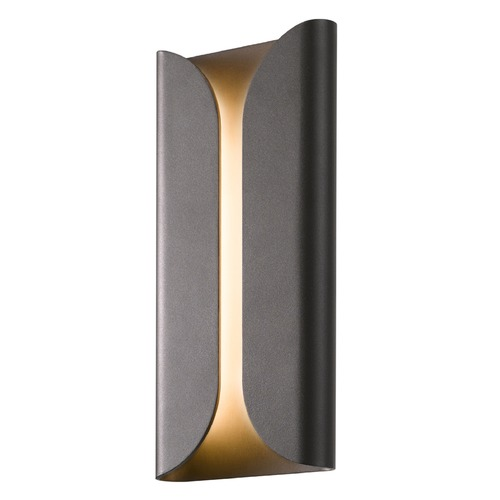 Sonneman Lighting Sonneman Folds Textured Bronze LED Outdoor Wall Light 2711.72-WL