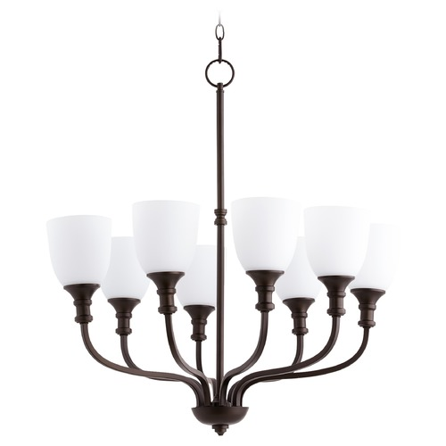 Quorum Lighting Quorum Lighting Richmond Oiled Bronze Chandelier 6811-8-86