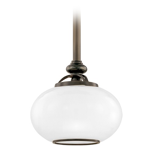 Hudson Valley Lighting Hudson Valley Lighting Canton Old Bronze Mini-Pendant Light with Oval Shade 9809-OB
