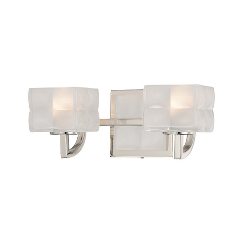 George Kovacs Lighting Modern Bathroom Light with White Glass in Polished Nickel Finish P5452-613