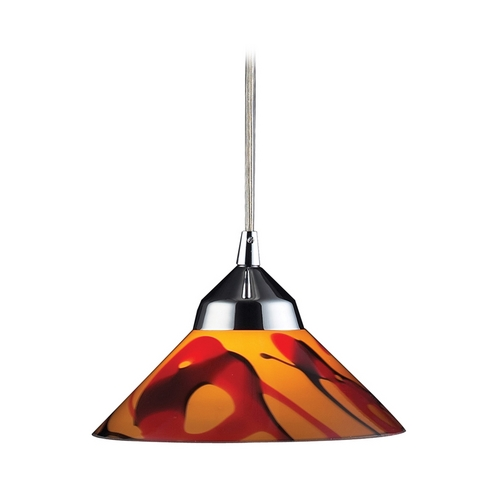 Elk Lighting Modern Mini-Pendant Light with Art Glass 1477/1JAS