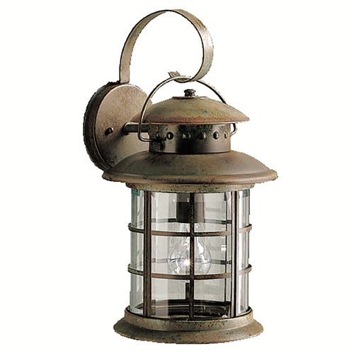 Kichler Lighting Kichler Outdoor Wall Light with Clear Glass in Rustic Finish 9761RST
