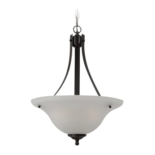 Sea Gull Lighting Pendant Light with Alabaster Glass in Heirloom Bronze Finish 65941-782